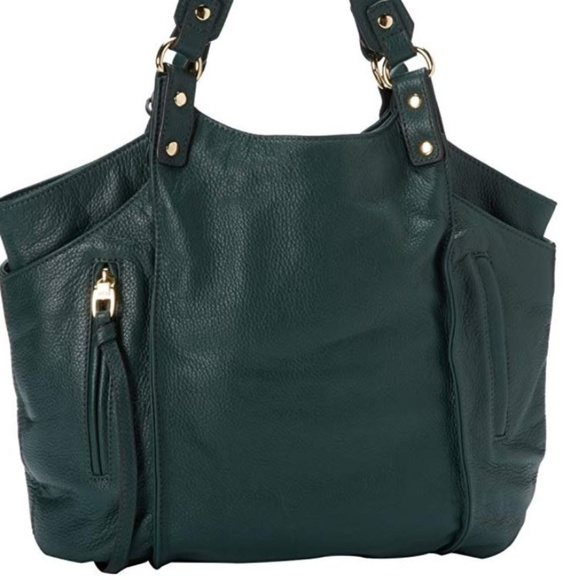 Kooba Handbags - Kooba Logan Green Leather Tote / Shoulder Bag